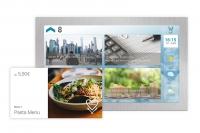 Multimedia Display mit Werbung im Aufzug