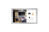 Screen design with advertisement widget for an office building