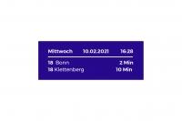 Fahrplan öffentlicher Verkehrsmittel